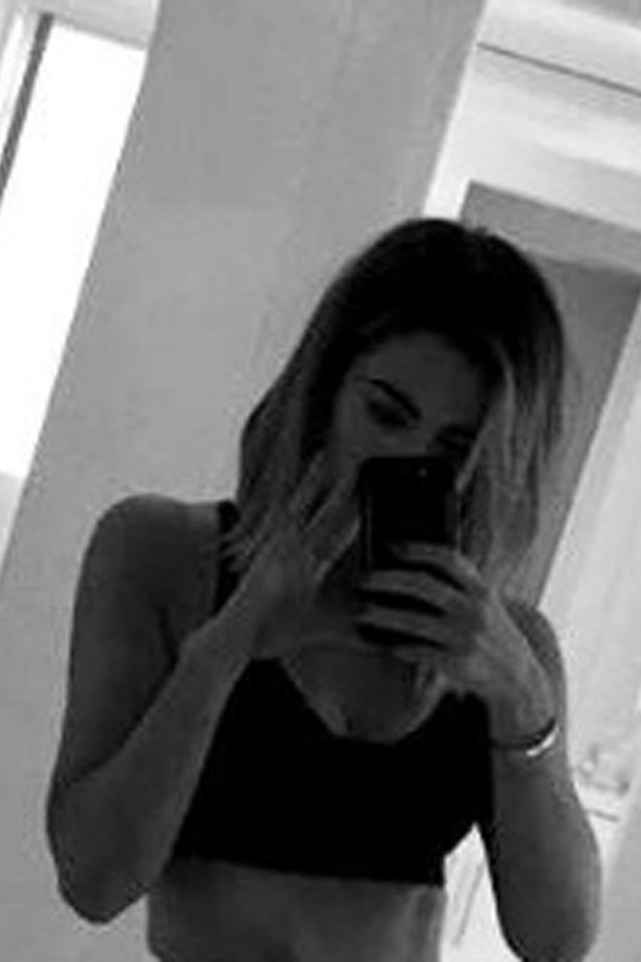 Khloé Kardashian con ropa deportiva