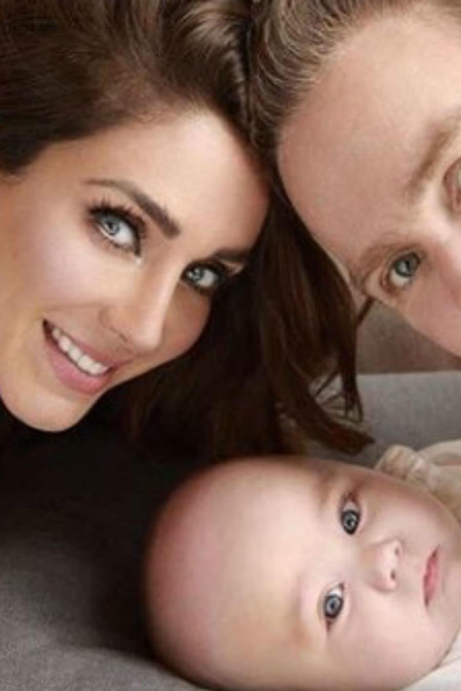 Anahí junto a su esposo e hijo
