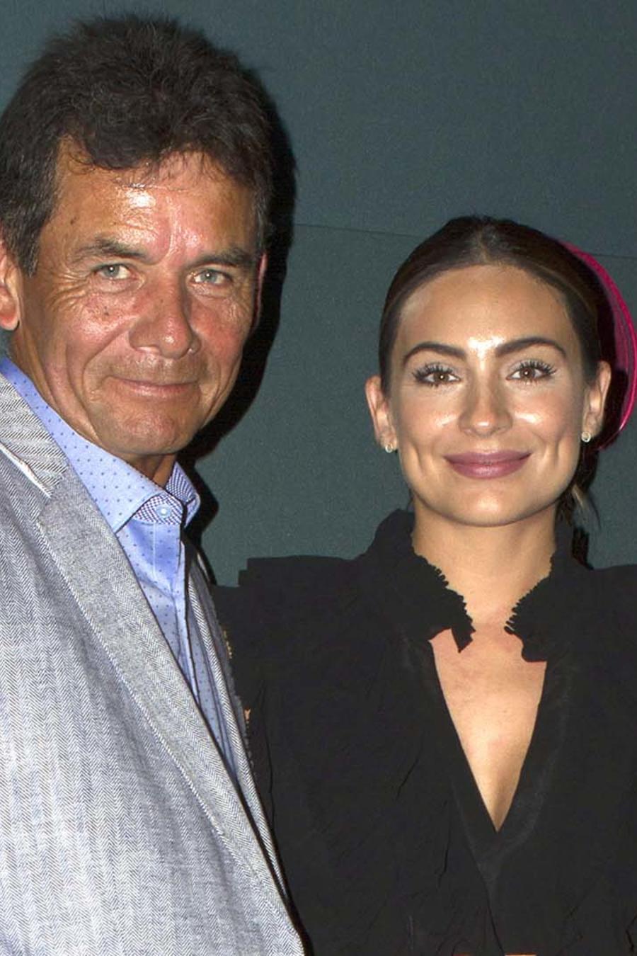 Ana Brenda Contreras y su padre