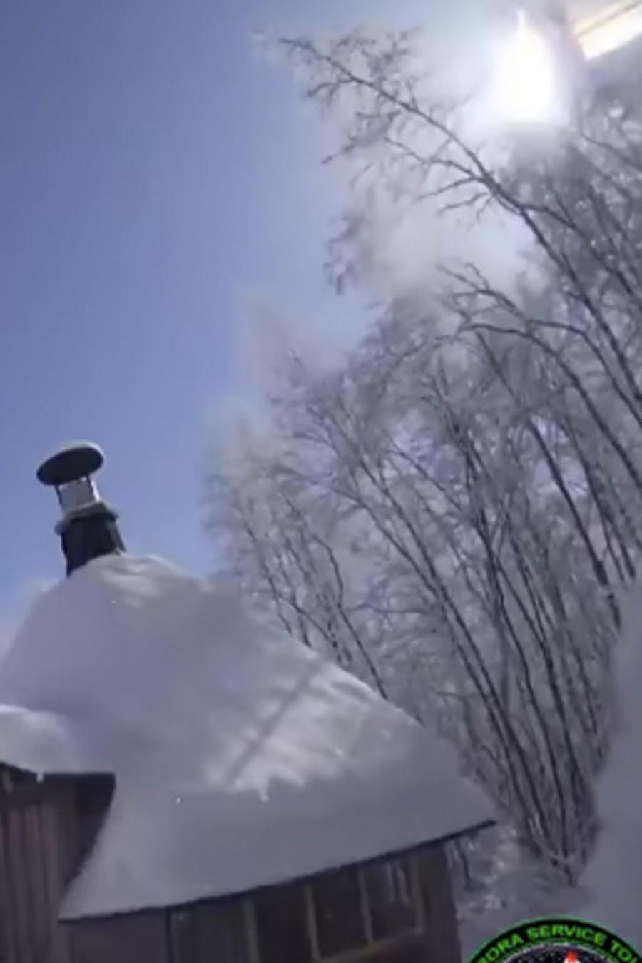Bola de fuego sobre el cielo de Finlandia
