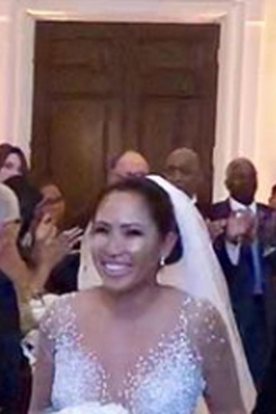 Vestido de novia con cristales Swarovski