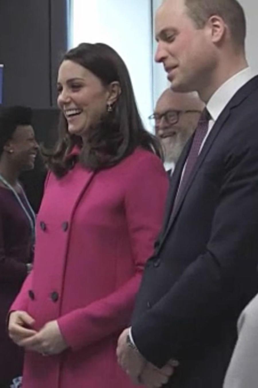 Kate Middleton y el príncipe William en el hospital