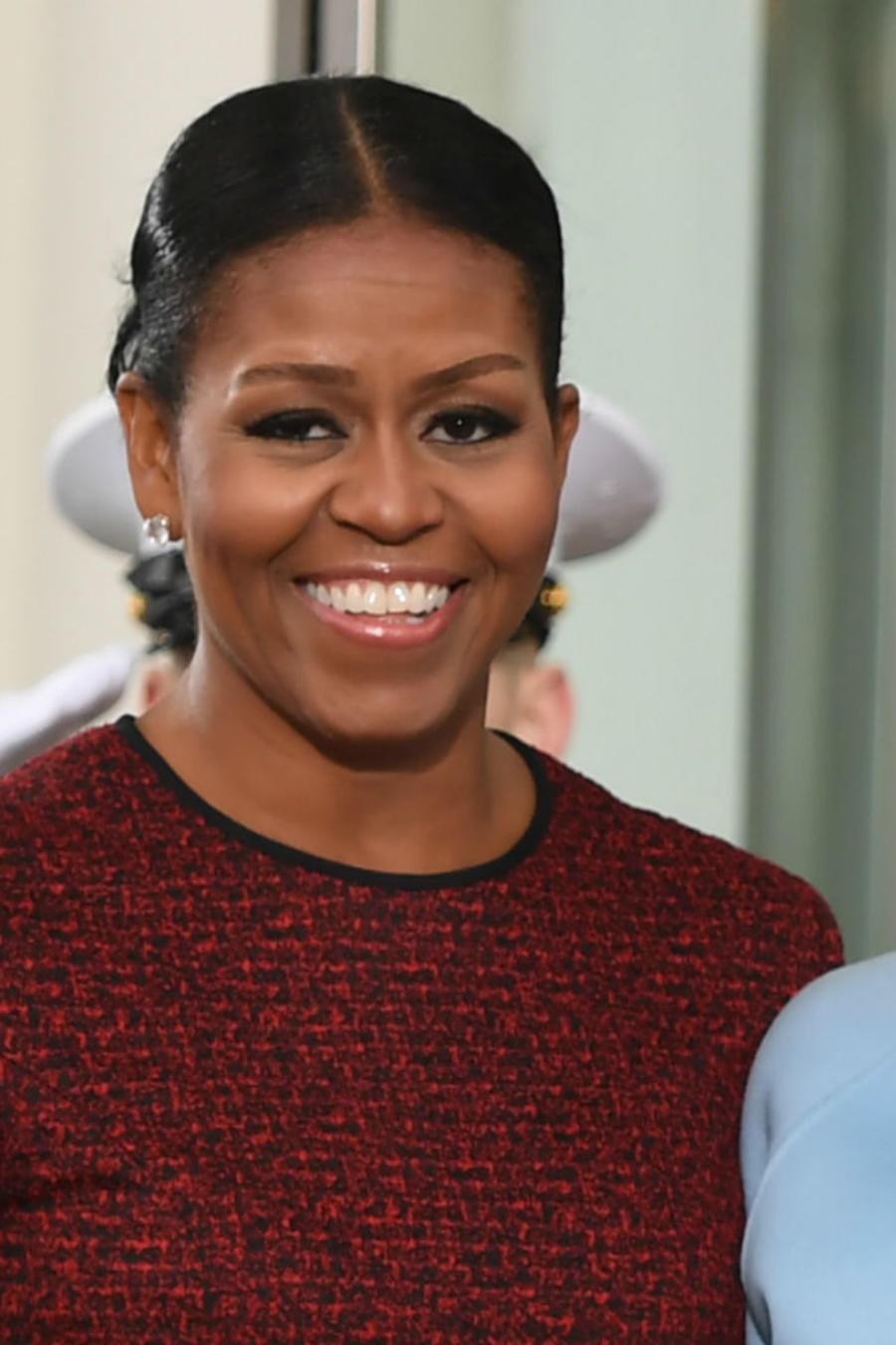 Melania Trump junto a Michelle Obama