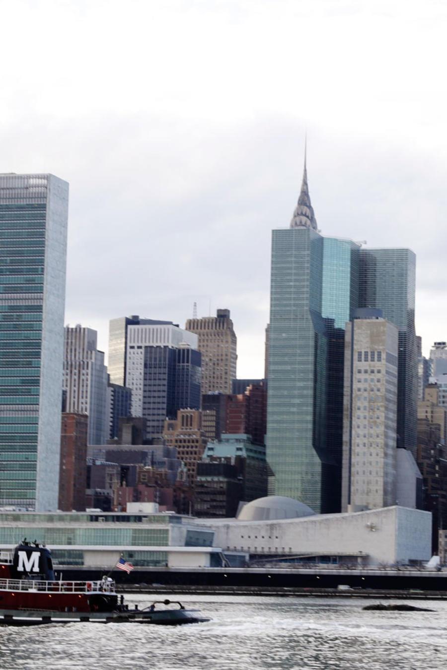 Manhattan en la ciudad de Nueva York en una foto de archivo