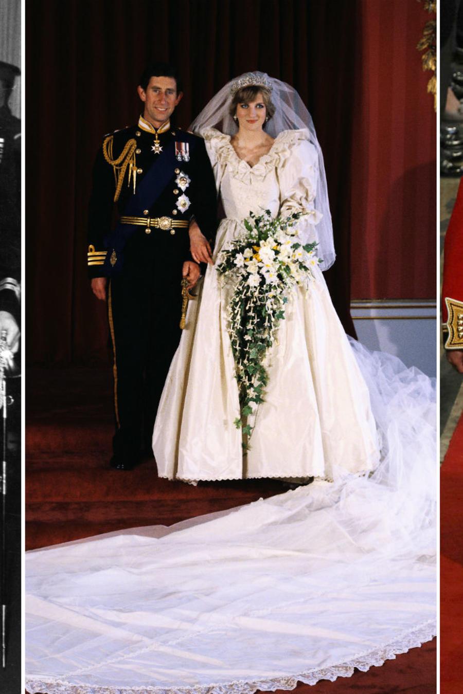 Collage novias de la realeza británica