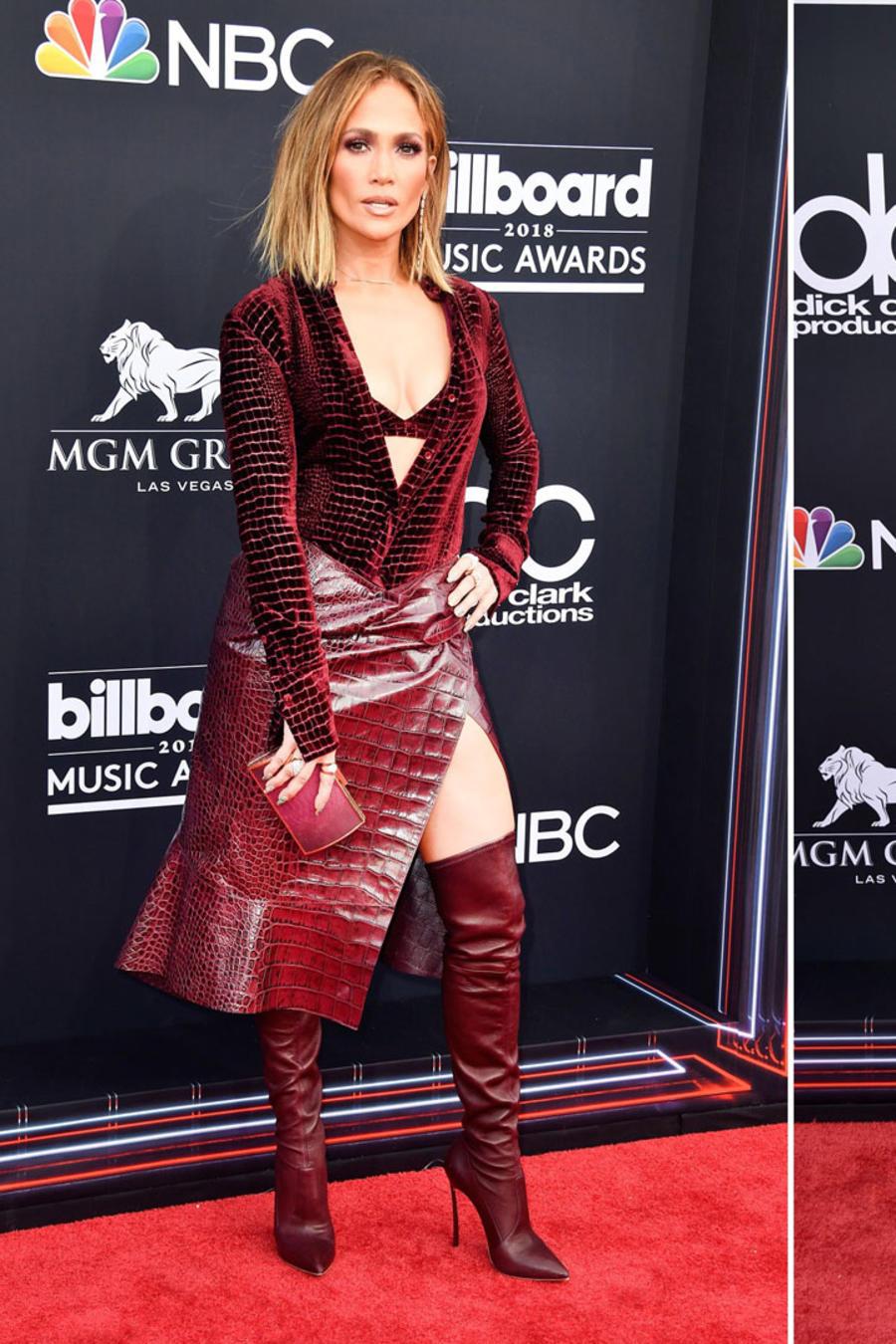 Jennifer Lopez, Hailey Baldwin y Chantel Cheffries en los Billboard Awards 2018