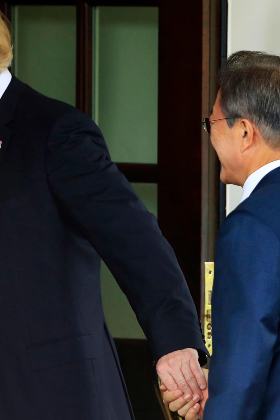 El presidente de EEUU, Donald Trump, en la Casa Blanca junto con su homólogo de Corea del Sur