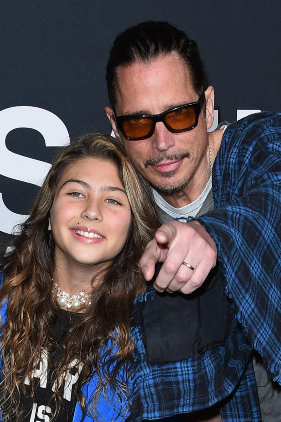 Chris Cornell con su hija Toni, en 2016