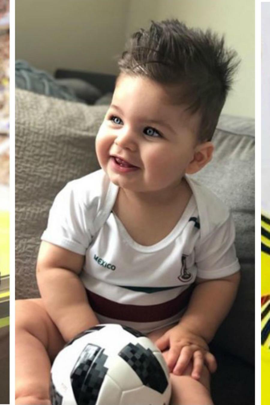 Collage hijo de Messi, Angélica Celaya y Shakira