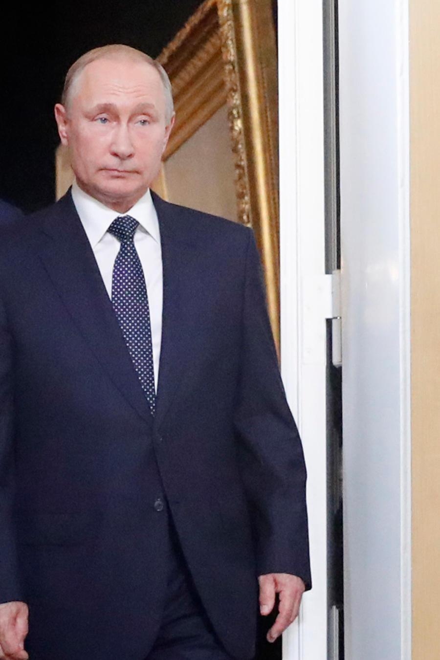 Trump y Putin después de su reunión a solas en el Palacio Presidencial de Helsinki