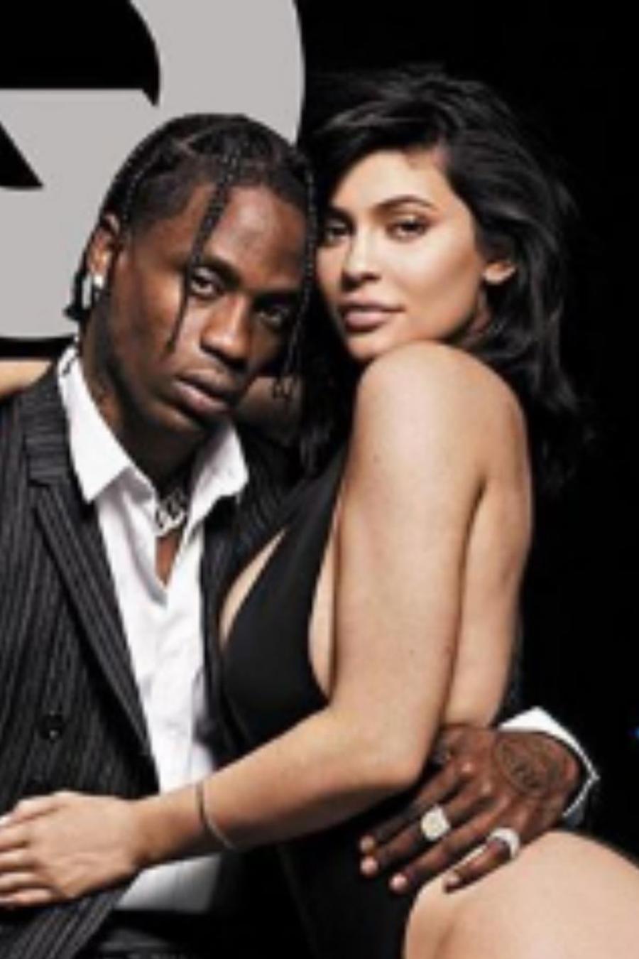 Kylie Jenner con Travis Scott en la revista GQ