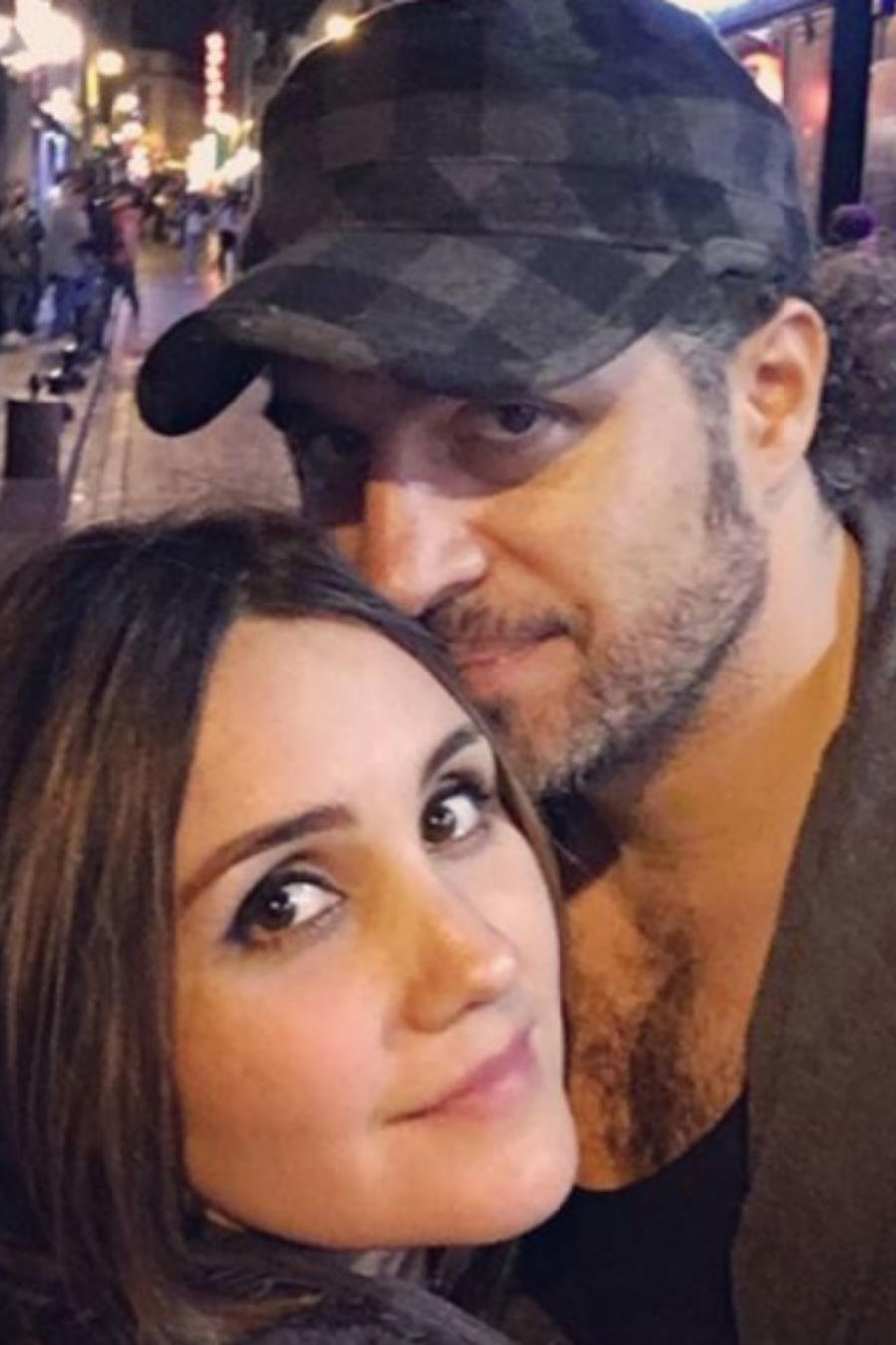Dulce María con su novio