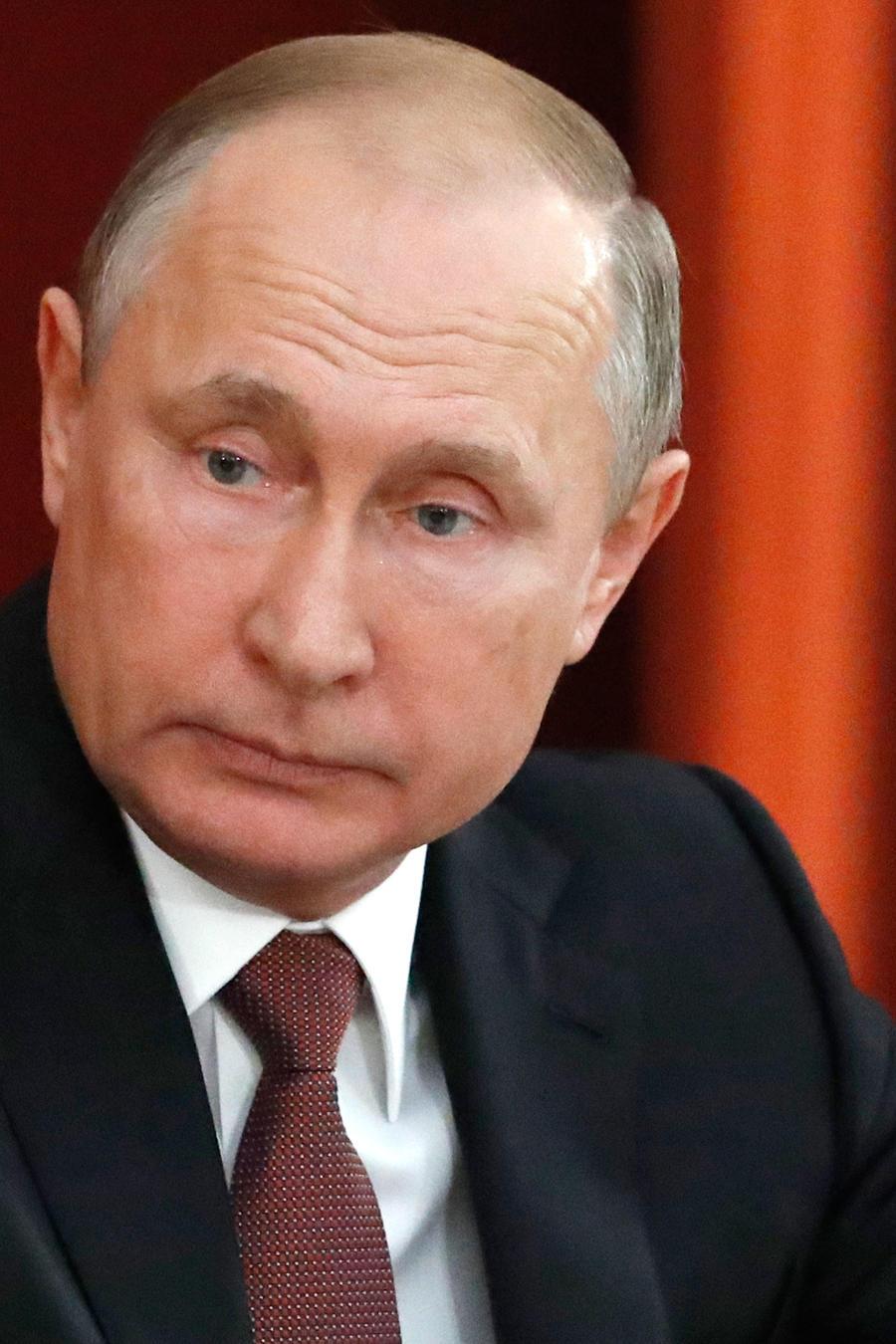 Presidente de Rusia, Vladimir Putin, en rueda de prensa hoy