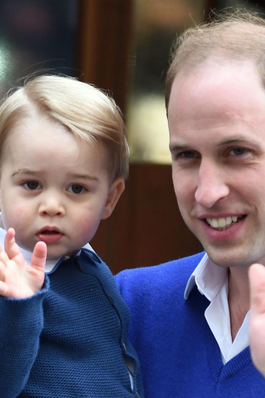Príncipe George con su papá el príncipe William