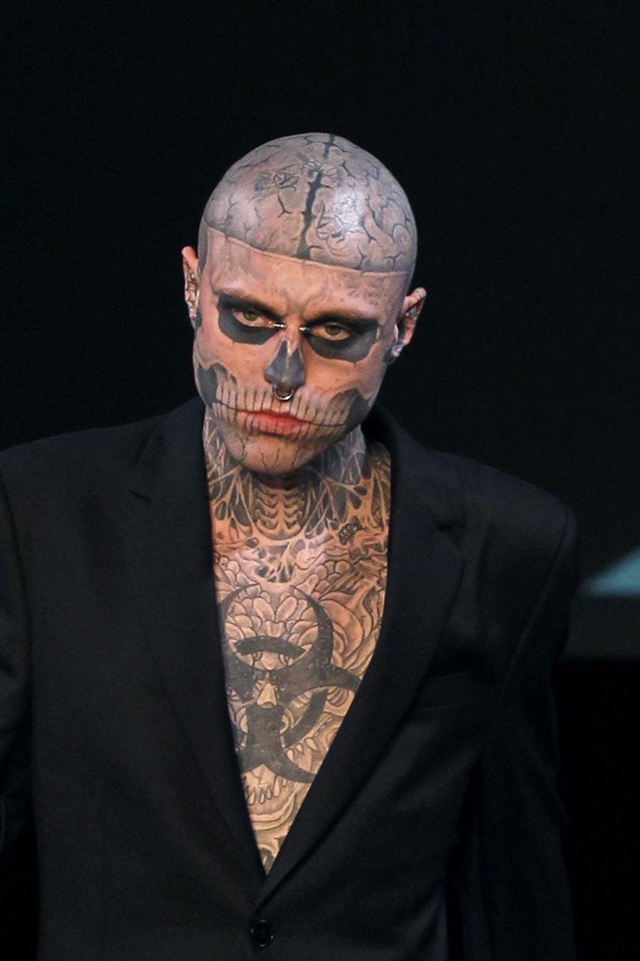 Canadian model Rick Genest aka Zombie bo
