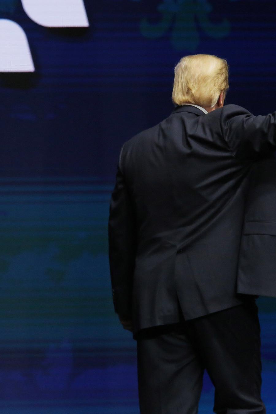 El presidente de los Estados Unidos, Donald J. Trump, este lunes en la convención anual de la American Farm Bureau Federation en Nueva Orleans, Louisiana.