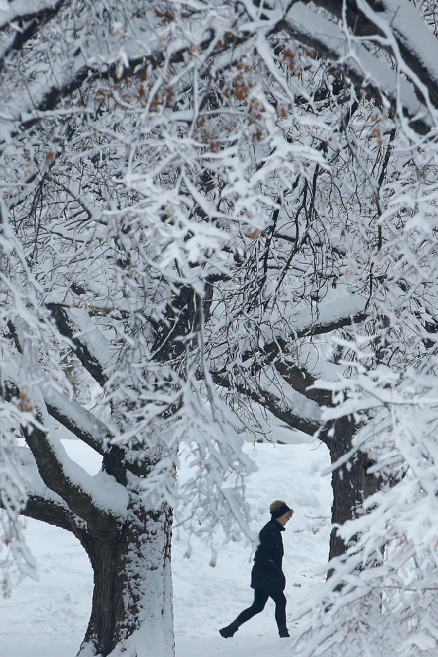 Tormenta de nieve azota a EEUU en una imagen de archivo