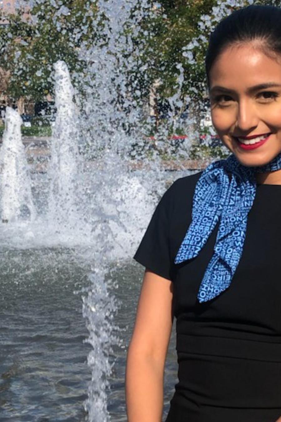 Selene Saavedra Román en una foto de 2018 tomada por su esposo David Watkins