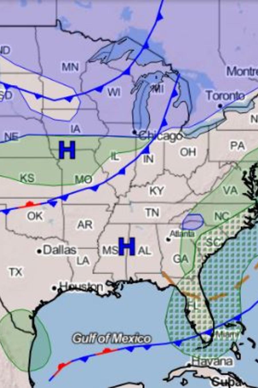 Entre el martes y el miércoles se prevé que la tormenta se reforzará y se convertirá en un ciclón bomba.