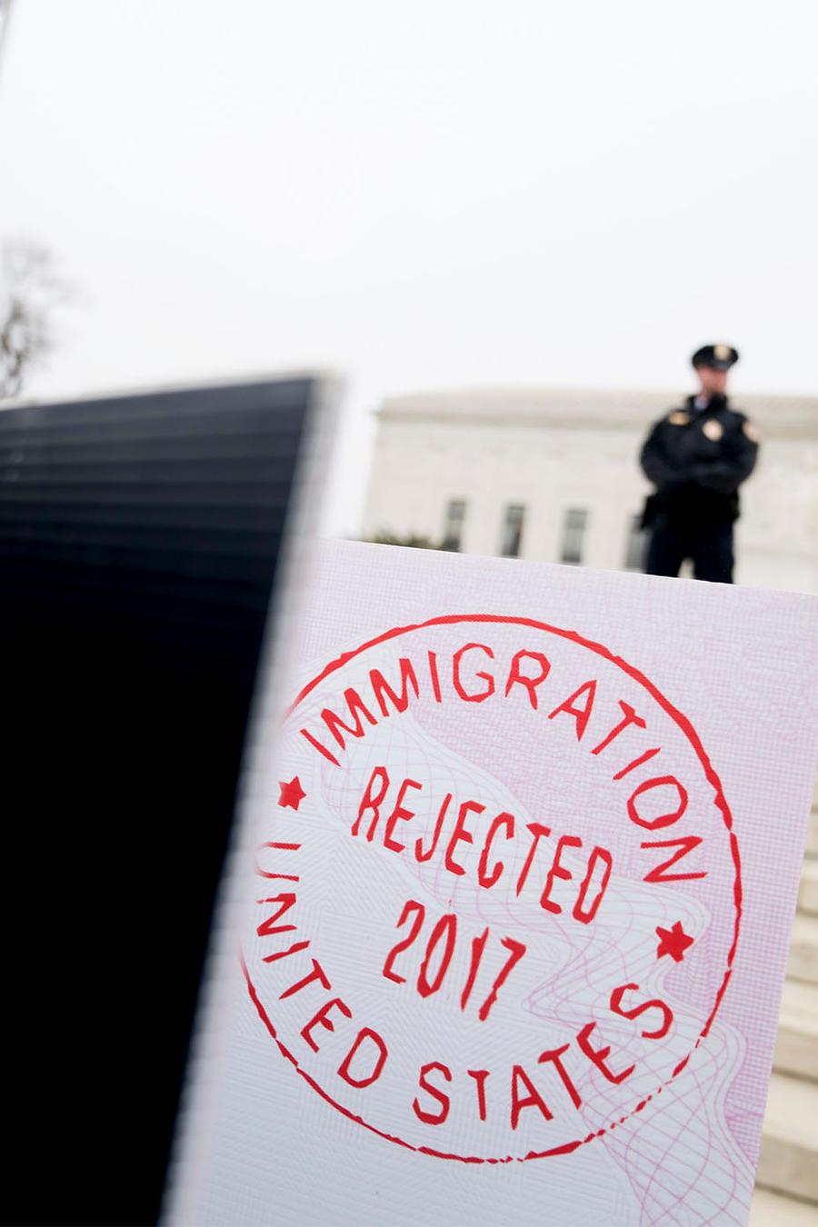 Protesta contra el veto migratorio