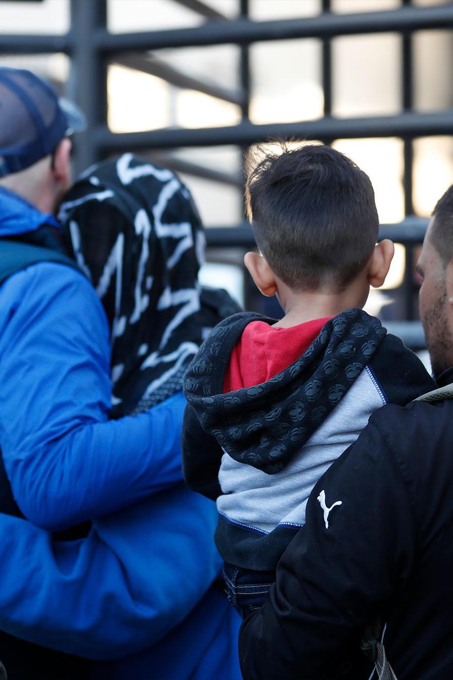Migrantes que piden asilo