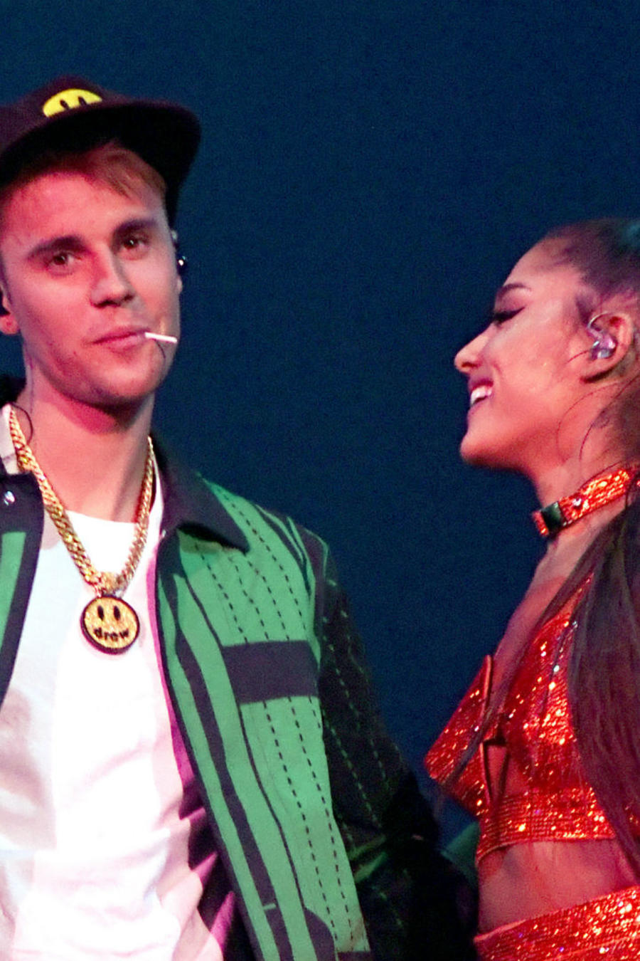 Justin Bieber con Ariana Grande en Coachella 2019