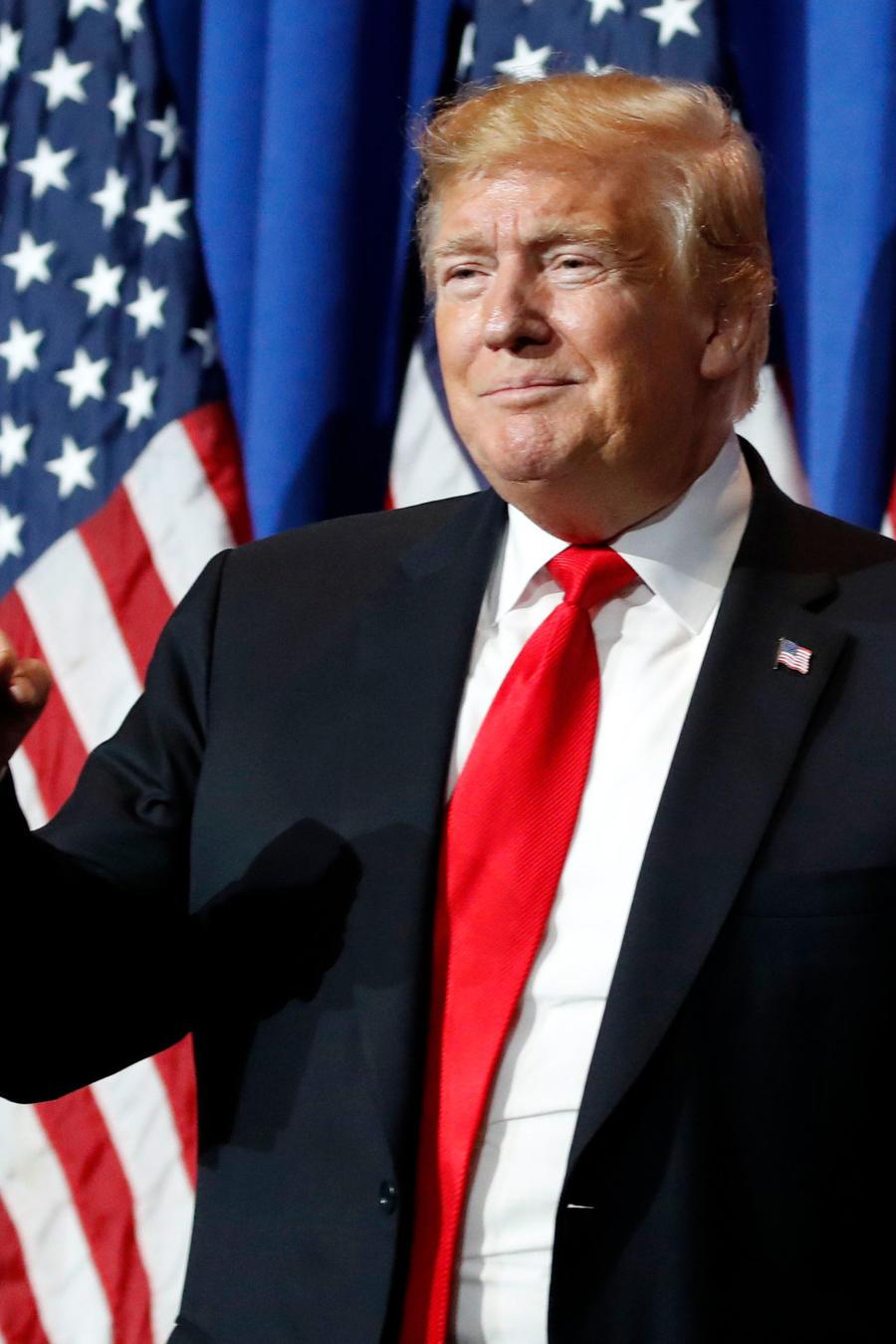 El presidente Trump en un evento en Washington D.C. el viernes 17 de mayo de 2019