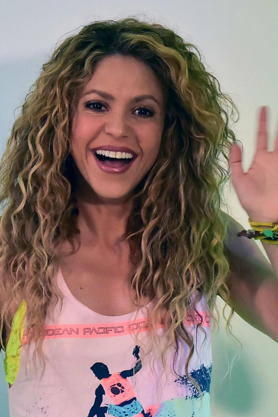 Shakira en conferencia de prensa de los Central American and Caribbean Games 2018
