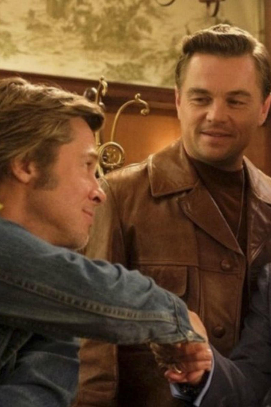 "Brad Pitt, Leonardo Di Caprio y Al Pacino en ""Once Upon a Time in Hollywood"""