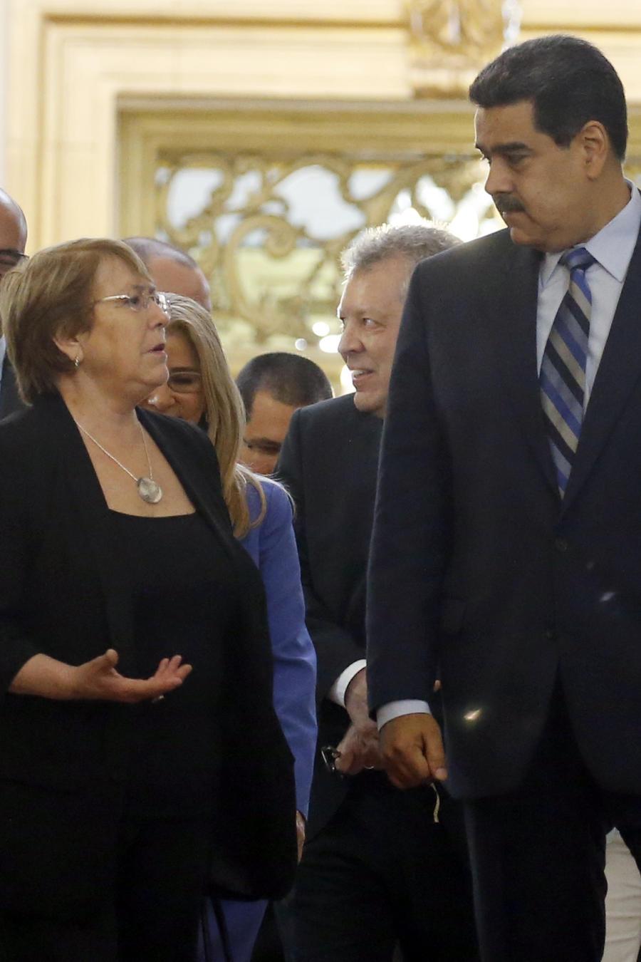 Michelle Bachelet,Nicolas Maduro