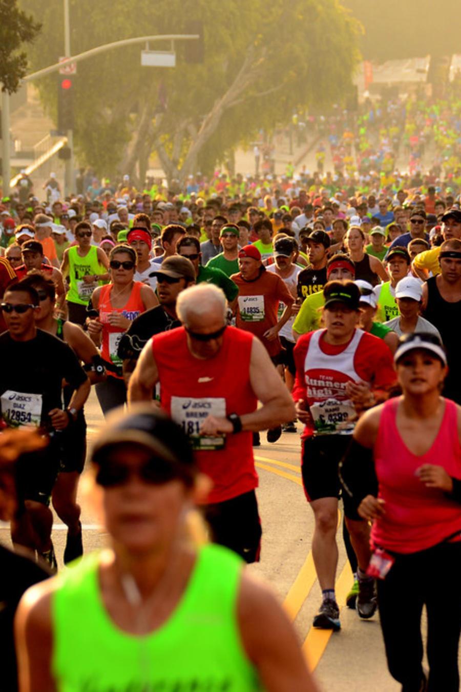 La maratón de Los Ángeles en una foto de archivo.