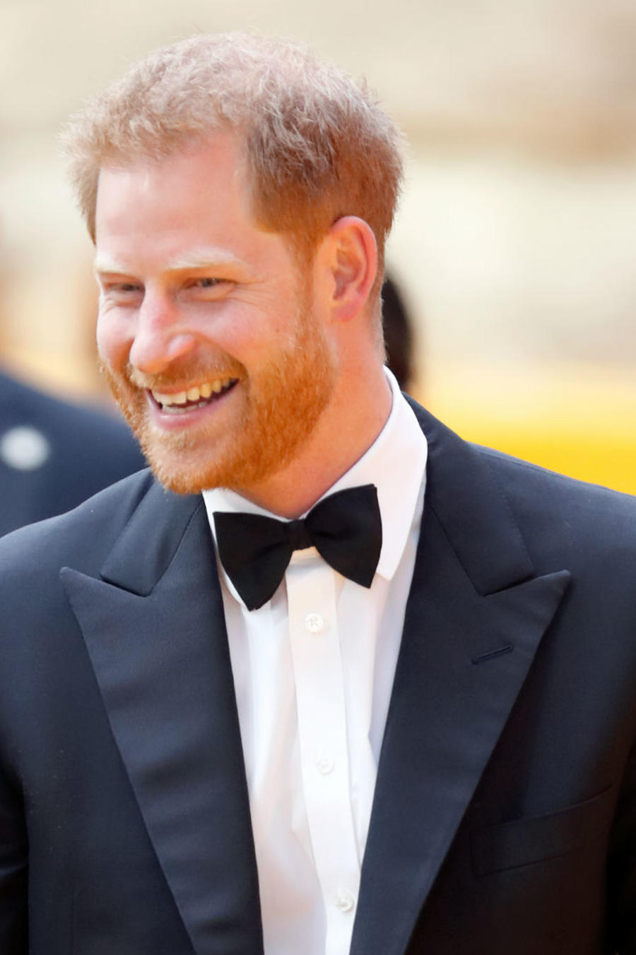 Meghan Markle y príncipe Harry en premiere The Lion King