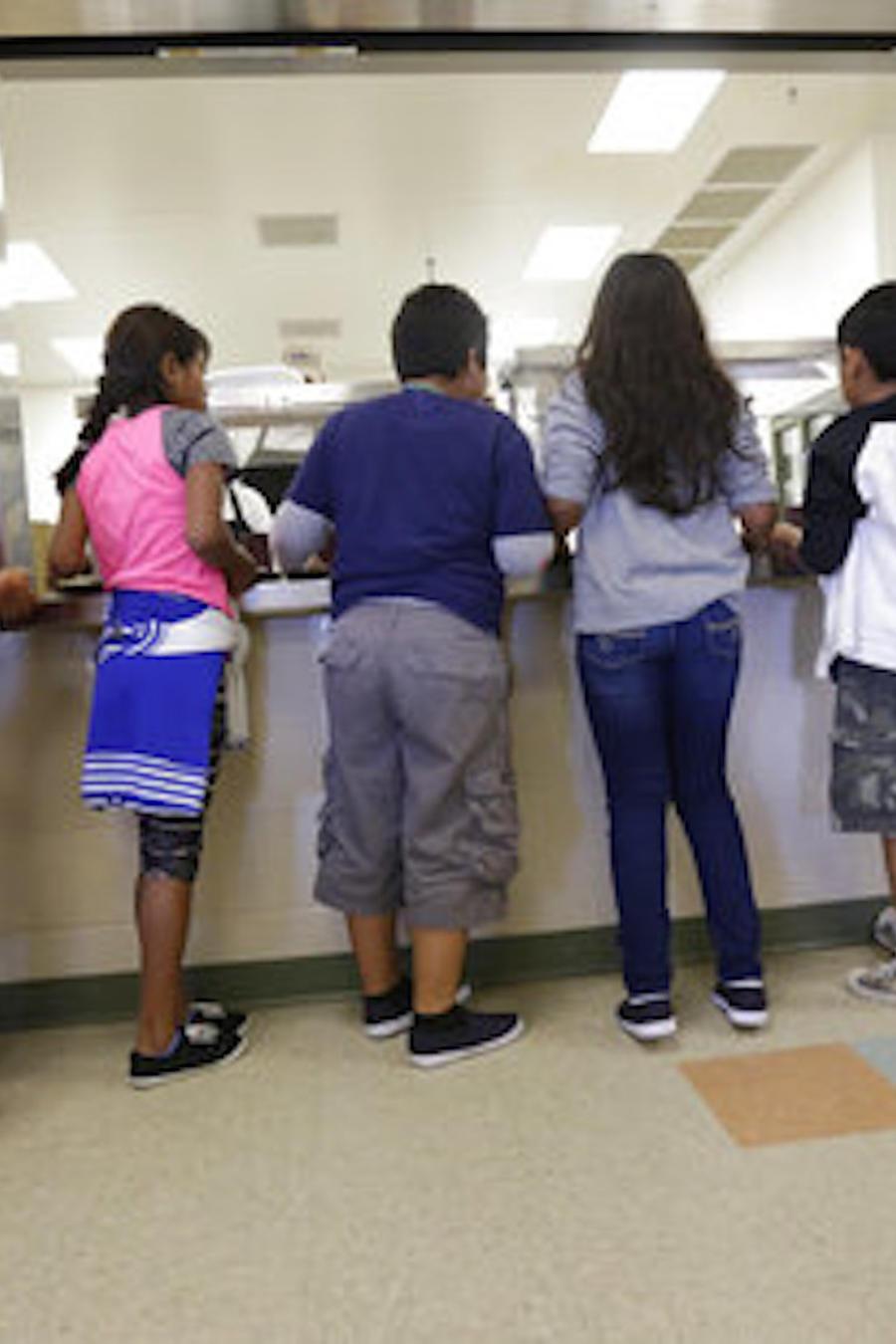 Imagen de archivo de niños detenidos en Karnes City, Texas.