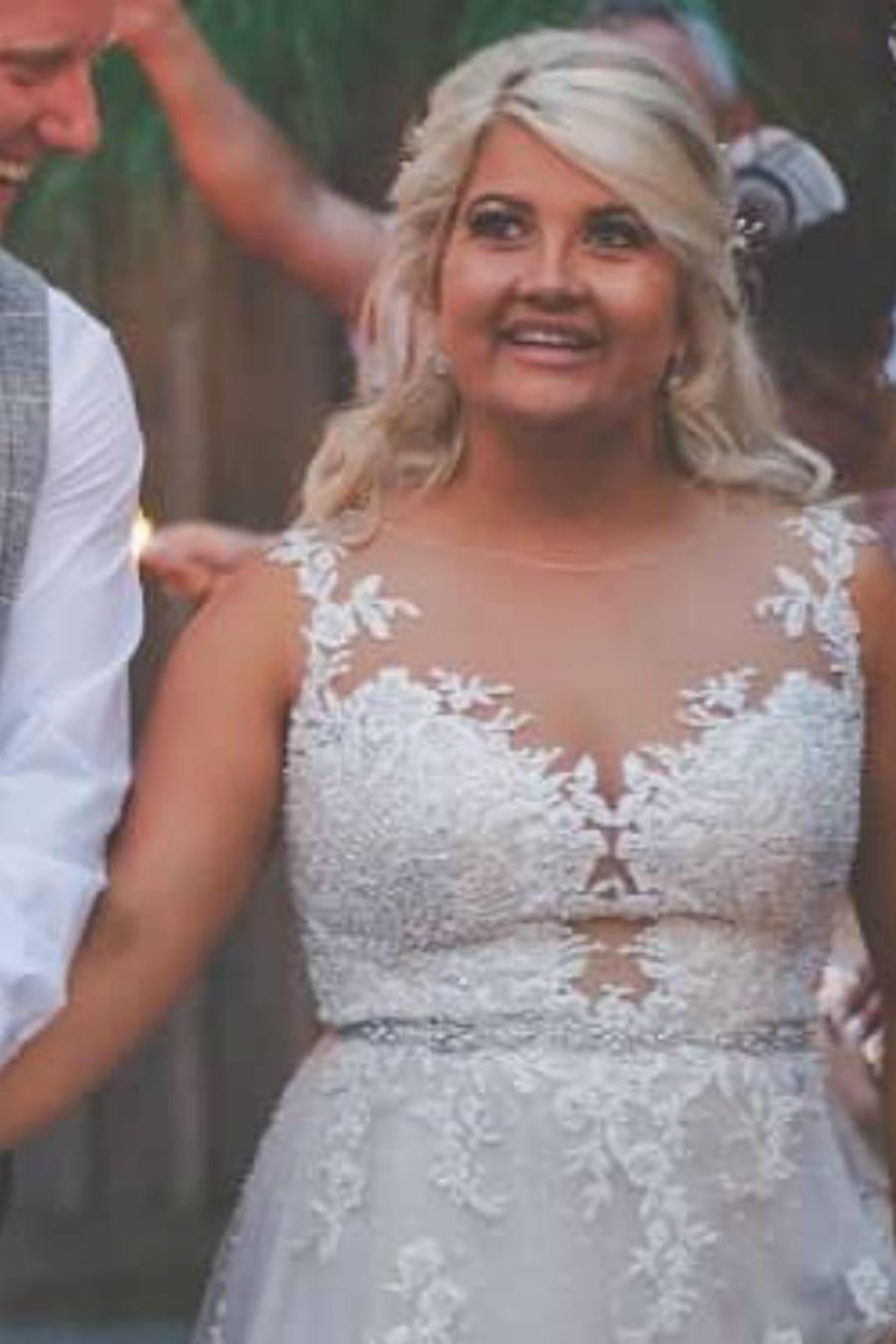 Charlotte Watson el día de su boda