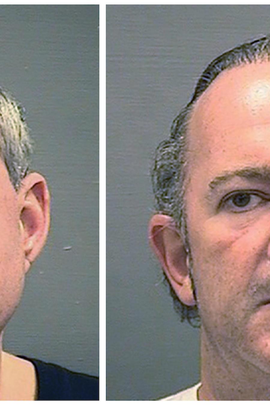 Imagen de Lev Parnas, a la izquierda, e Igor Fruman, suministradas por la Oficina del Alguacil de Alexandria, Virginia.