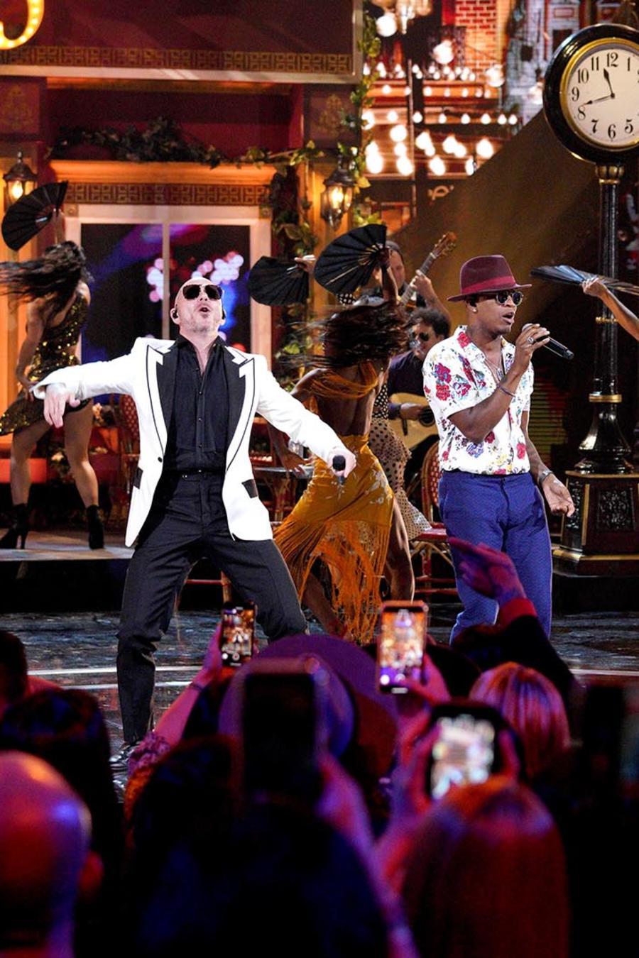 Pitbull Ne-Yo and Lenier en los Latin American Music Awards