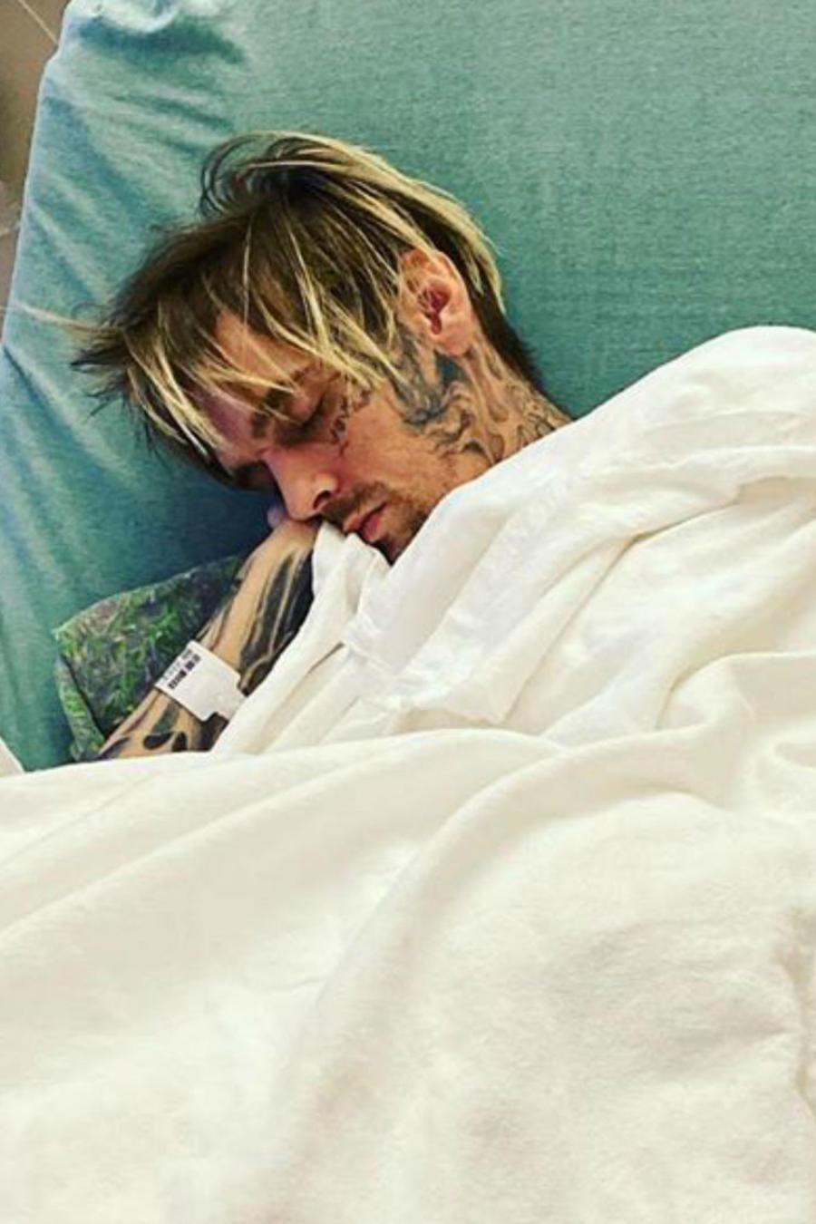 Aaron Carter en el hospital