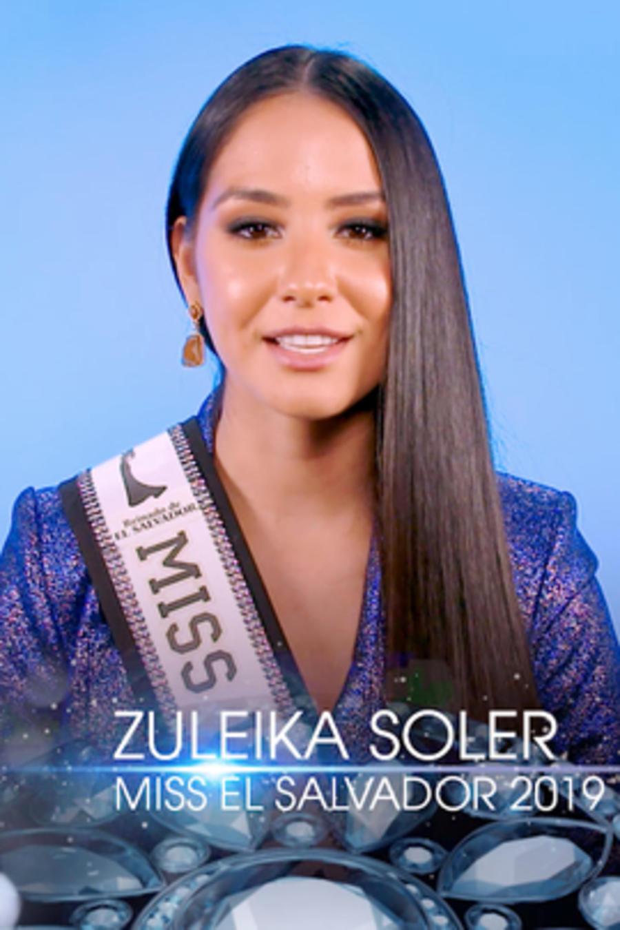 Zuleika Soler, Miss El Salvador, Miss Universo 2019