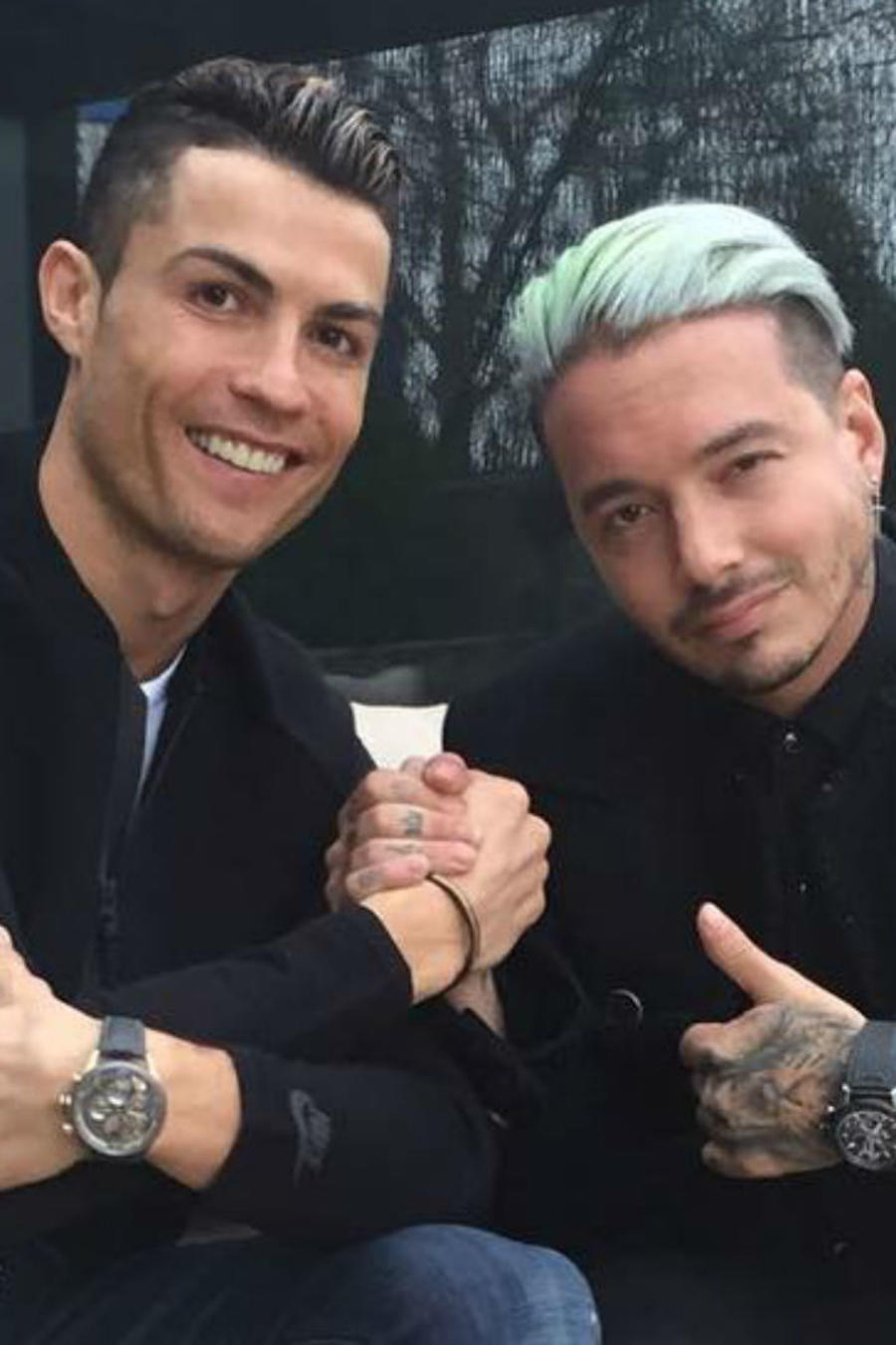 Cristiano Ronaldo con J Balvin, 2017