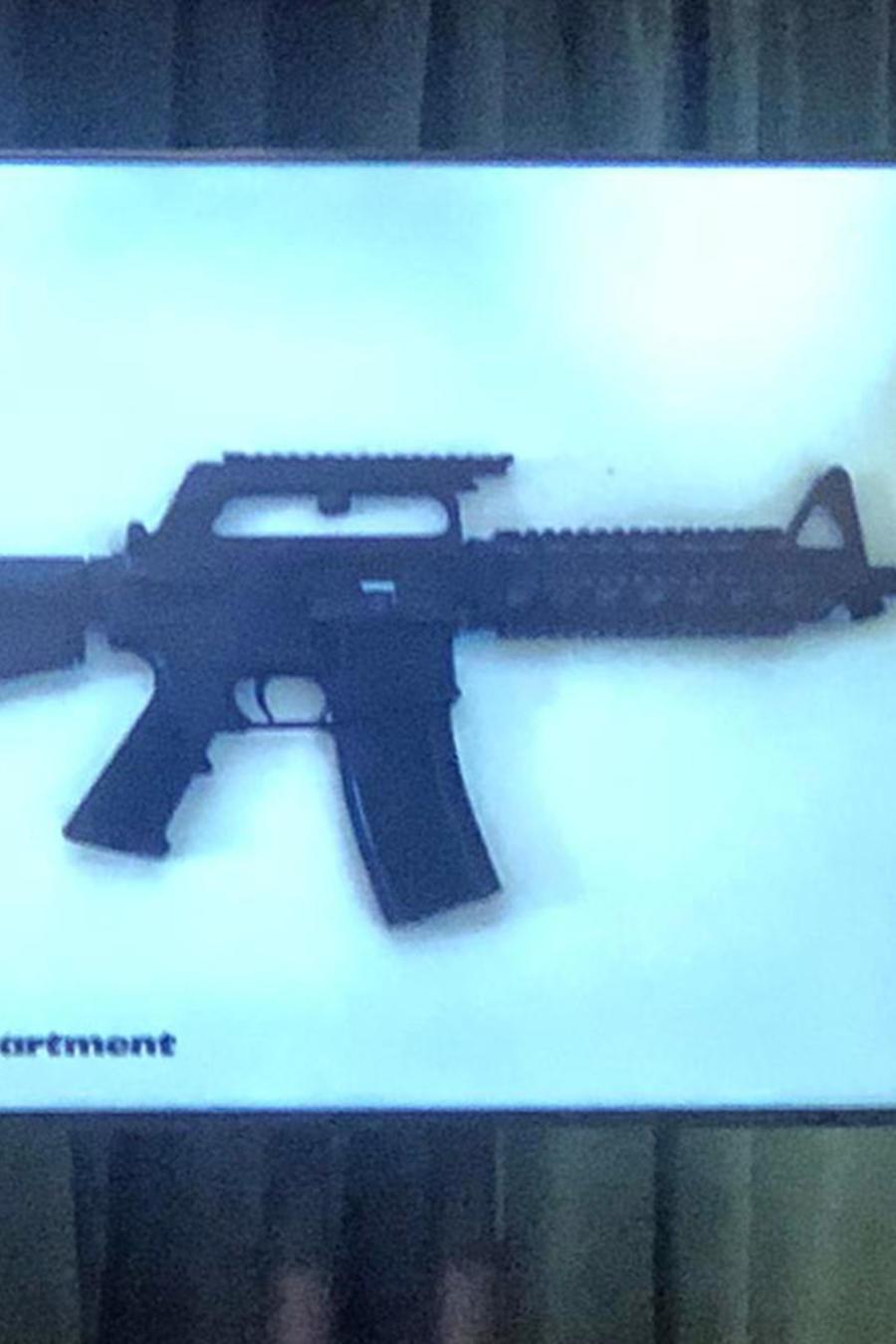 Imagen del arma incautada por la Policía.