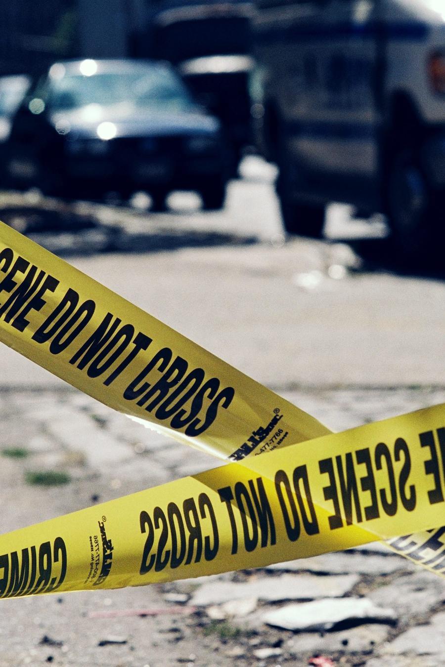 Fotograf+ia de archivo de una escena del crimen