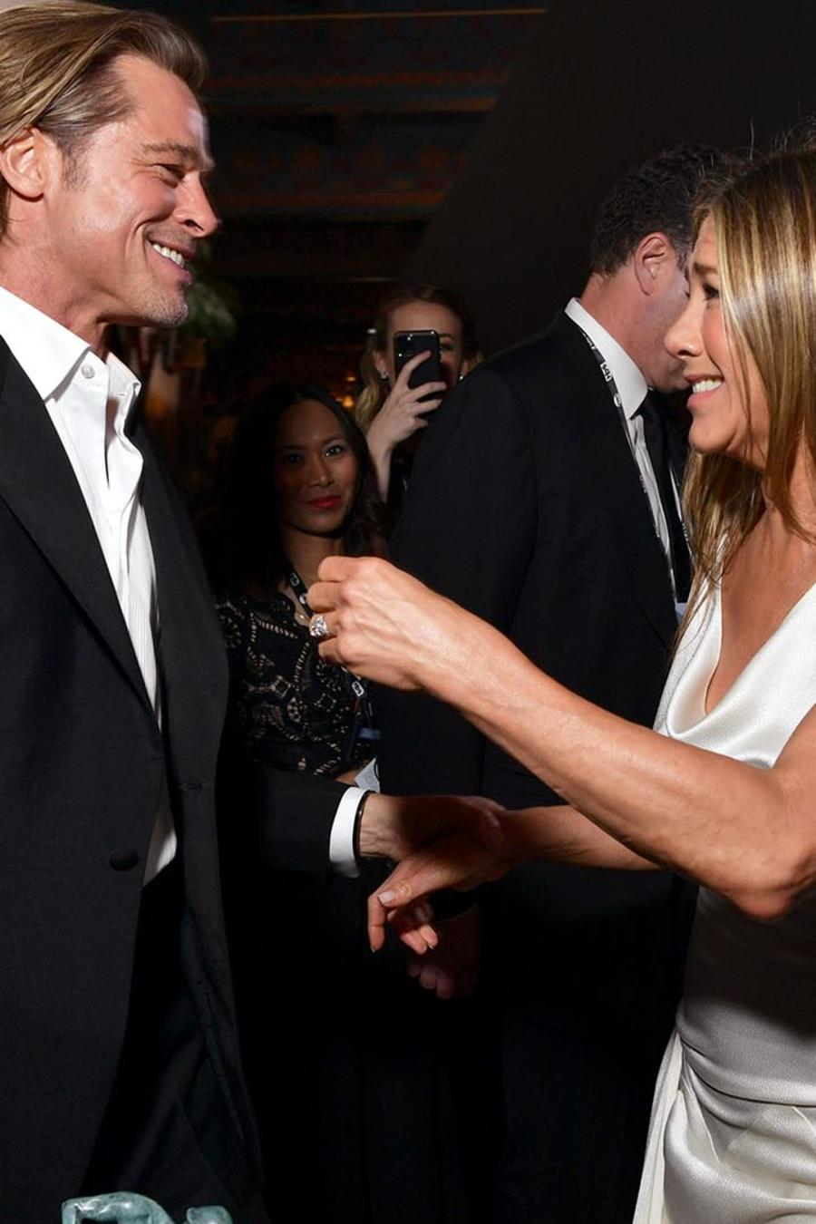 Brad Pitt y Jennifer Aniston en la ceremonia 26th de los Annual Screen Actors Guild Awards