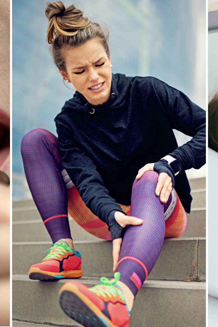 Mujer con dolor de pierna