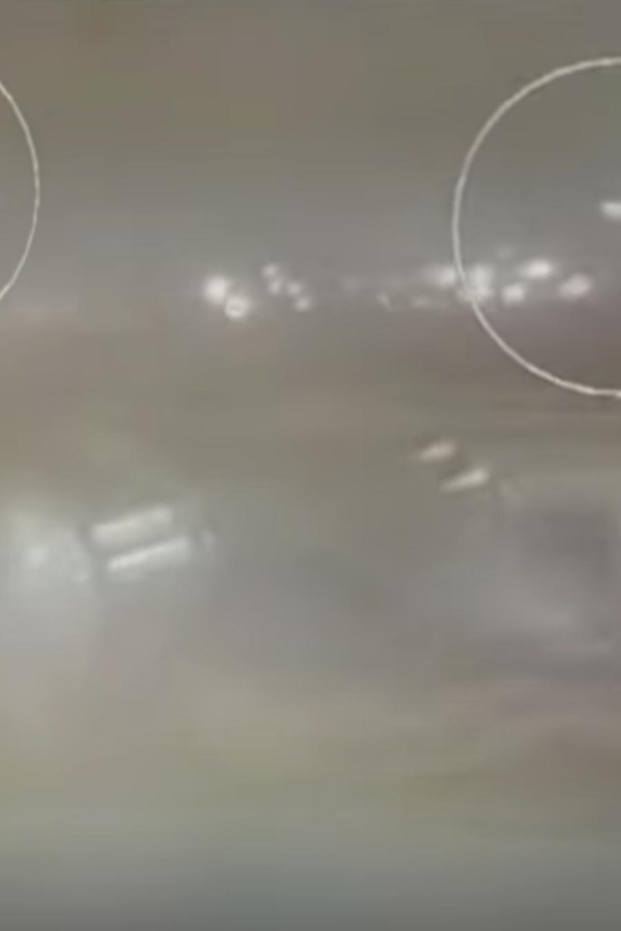 Imagen del derribo del avión ucraniano en Irán.