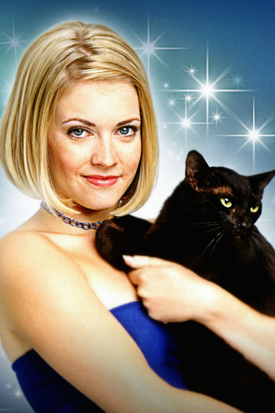 "Melissa Joan Hart y Salem, en ""Sabrina the Teenage Witch"""