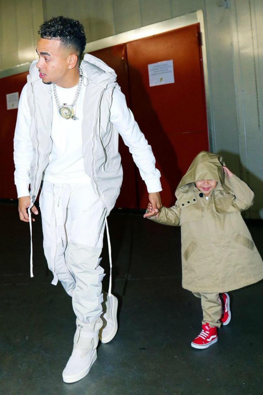 Ozuna con sus hijo Jacob