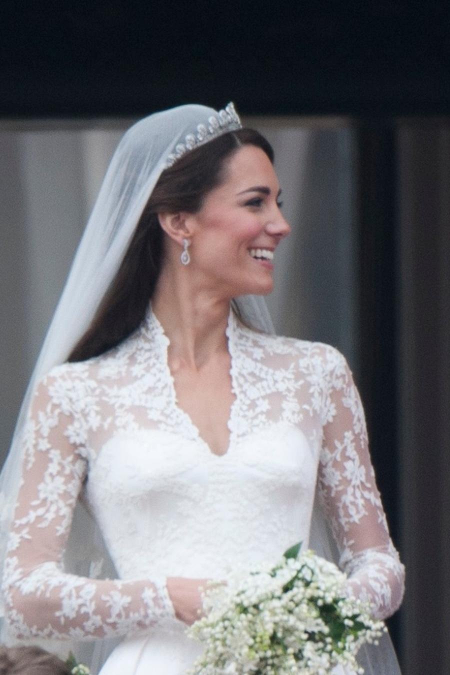 Kate Middleton y el príncipe William en su boda de 2011