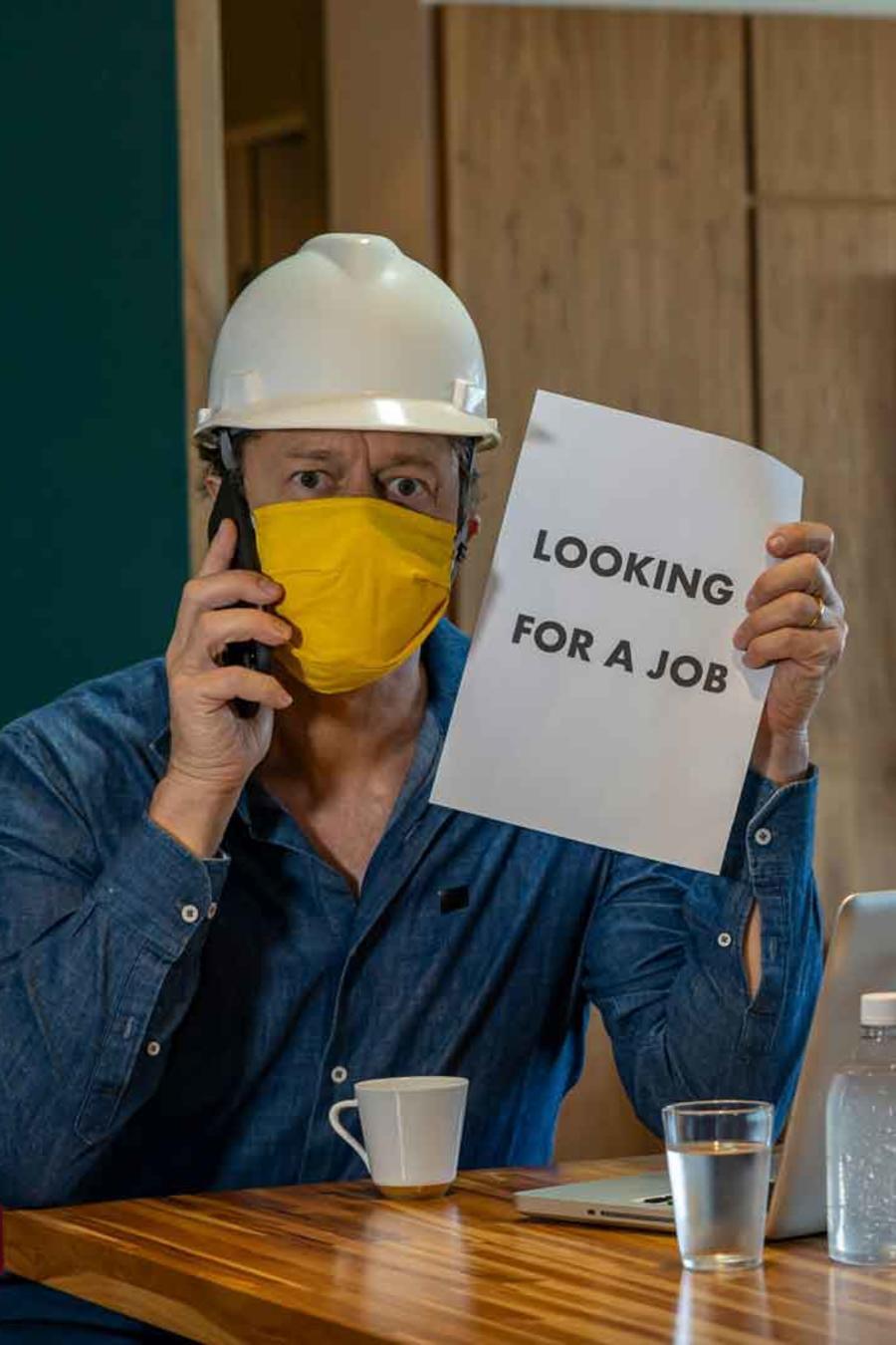 Hombre desempleado