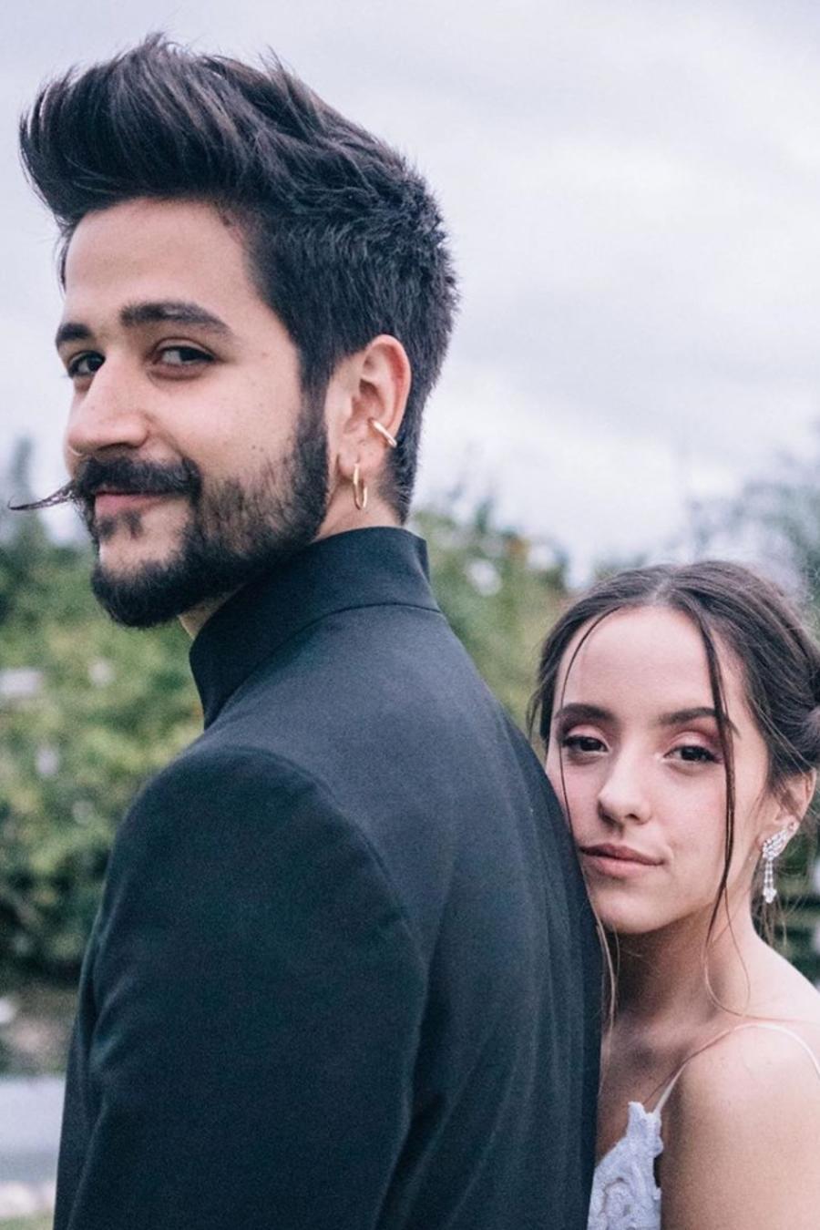 Camilo y Evaluna en su boda