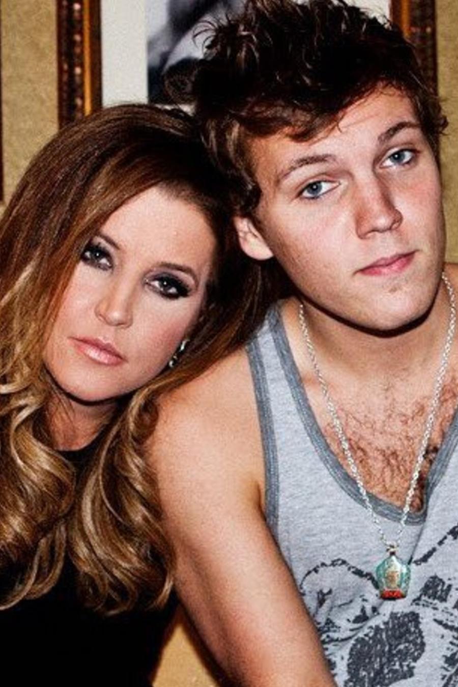 Lisa Marie Presley y Benjamin Keough